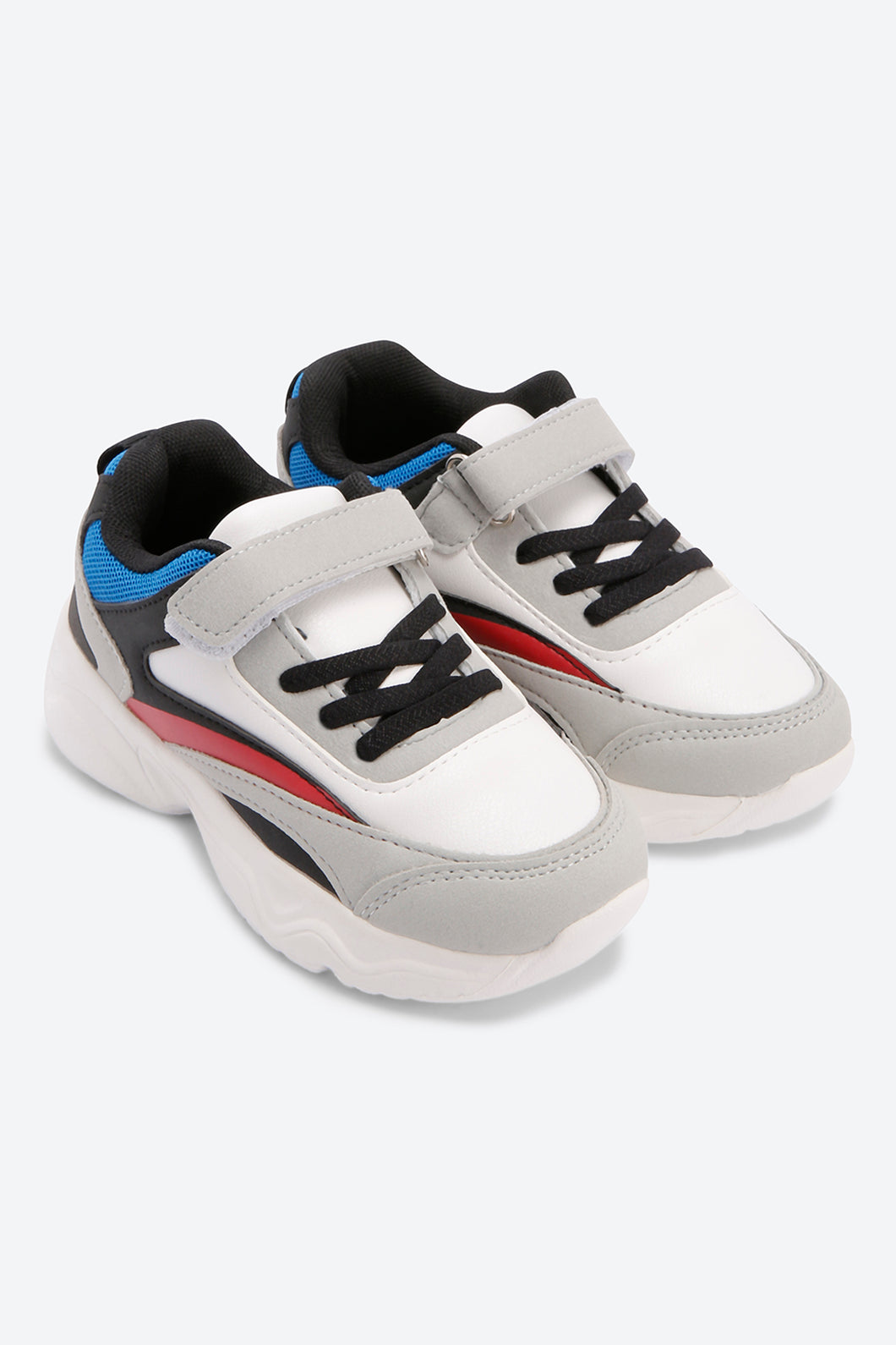 White Chunky Colour Block Trainers