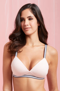 Grey/Pale Pink Padded T-Shirt Bra (2-Pack)