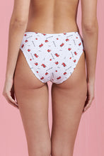 Load image into Gallery viewer, White Floral Print Brazilian Brief