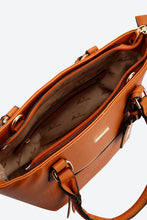 Load image into Gallery viewer, Brown Front Zip Tote Bag