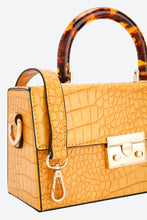 Load image into Gallery viewer, Mustard Cross Body With Resin Top Handle