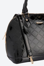 Load image into Gallery viewer, Black Quilted Patent Bag