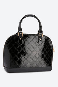 Black Quilted Patent Bag