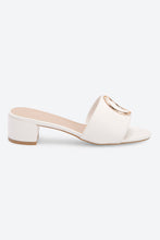 Load image into Gallery viewer, White Buckle Trim Mule