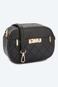 Black Cross Body Quilted Bag