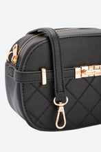 Load image into Gallery viewer, Black Cross Body Quilted Bag