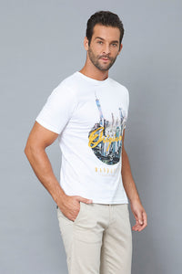 White Original Manhattan Graphic Print T-Shirt