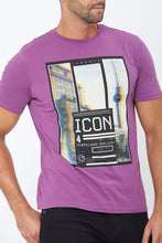 Load image into Gallery viewer, Purple Icon Graphic Print T-Shirt