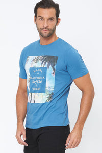 Blue Malibu Graphic Print T-Shirt