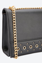 Load image into Gallery viewer, Black Cross Body Stud Embellishment