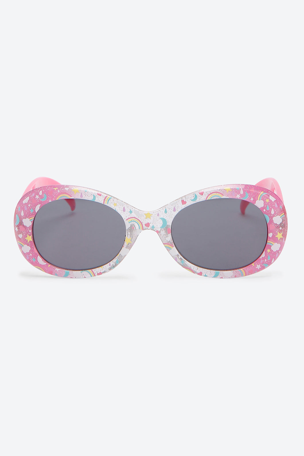 OverSize Rainbow All Over Print Sunglass