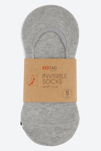 Assorted Plain Invisible Socks (5-Pack)