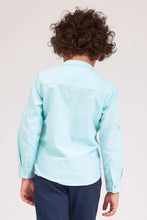 Load image into Gallery viewer, Mint Plain Mandarin Collar Shirt