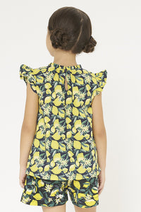 Yellow Lemon Printed Blouse