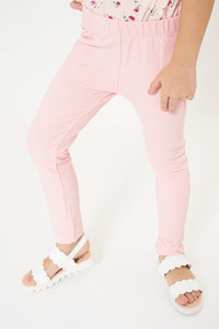 Pink Plain  Jegging