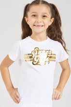 Load image into Gallery viewer, White Super Girl Foil Print T-Shirt