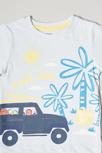 Load image into Gallery viewer, Light Blue Graphic Print T-Shirt