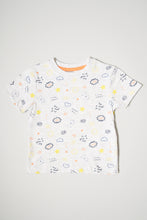 Load image into Gallery viewer, Grey Allover Print T-Shirt