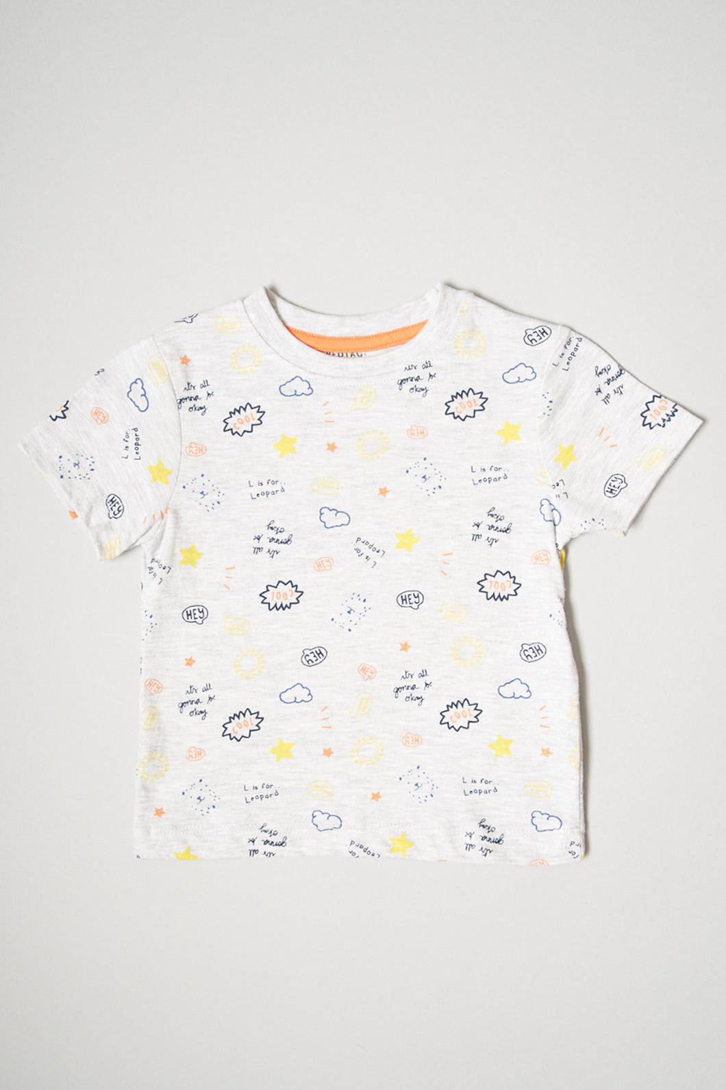 Grey Allover Print T-Shirt