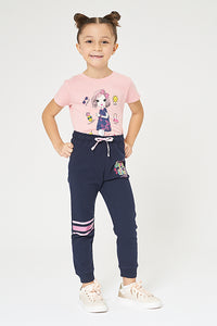 Navy Super Girls Track Pant