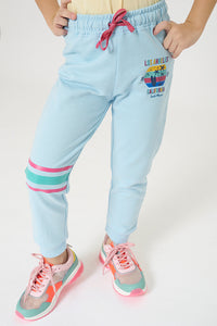 Blue Los Angeles Print Track Pant