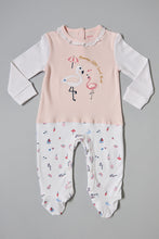 Load image into Gallery viewer, Pink And White Flamingo Sleepsuit