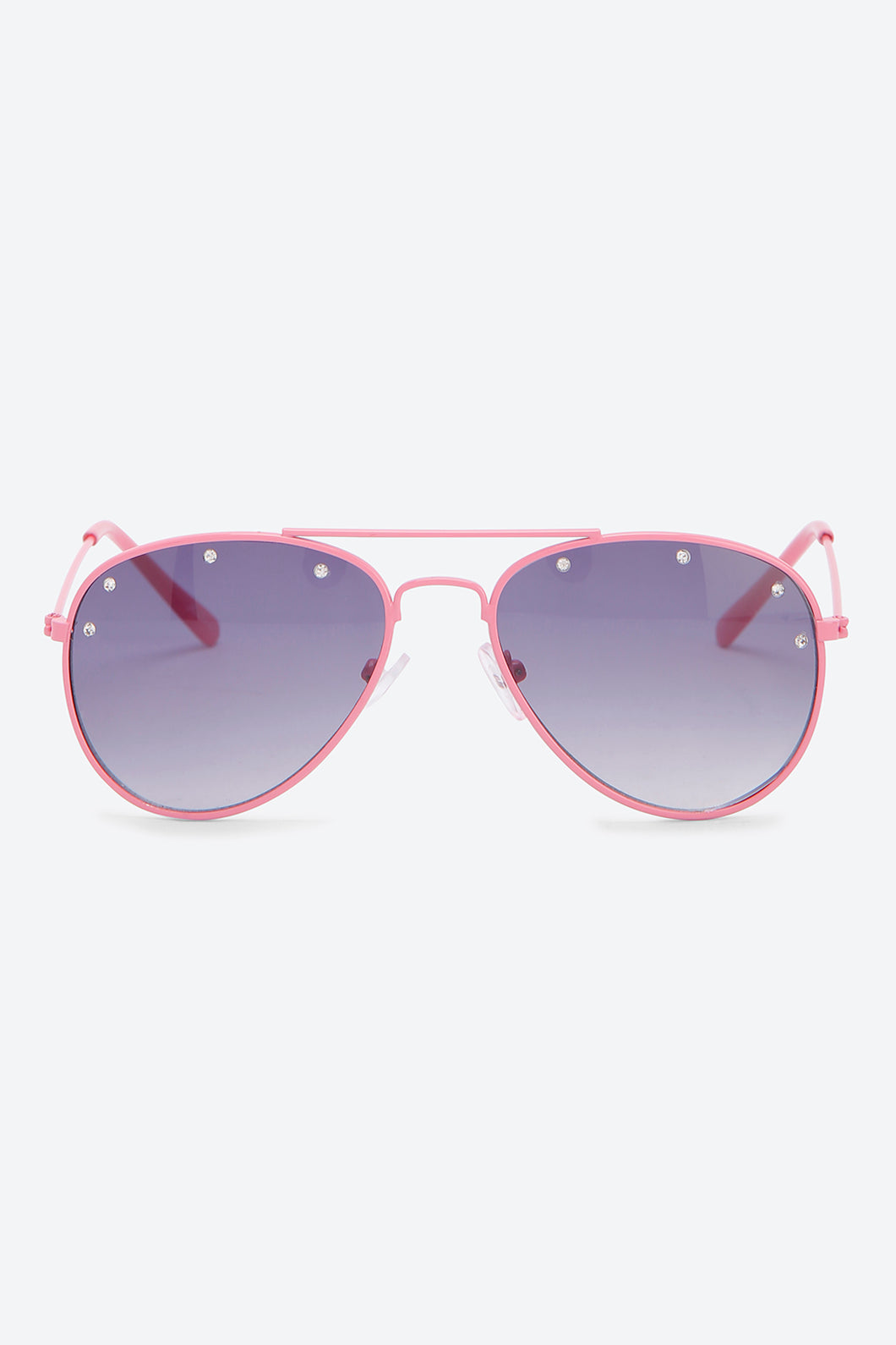 Aviator Crystal Embellished Sunglass