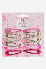 Load image into Gallery viewer, Multi Colour Pack Of 12 Glitter Snap Hair Clips