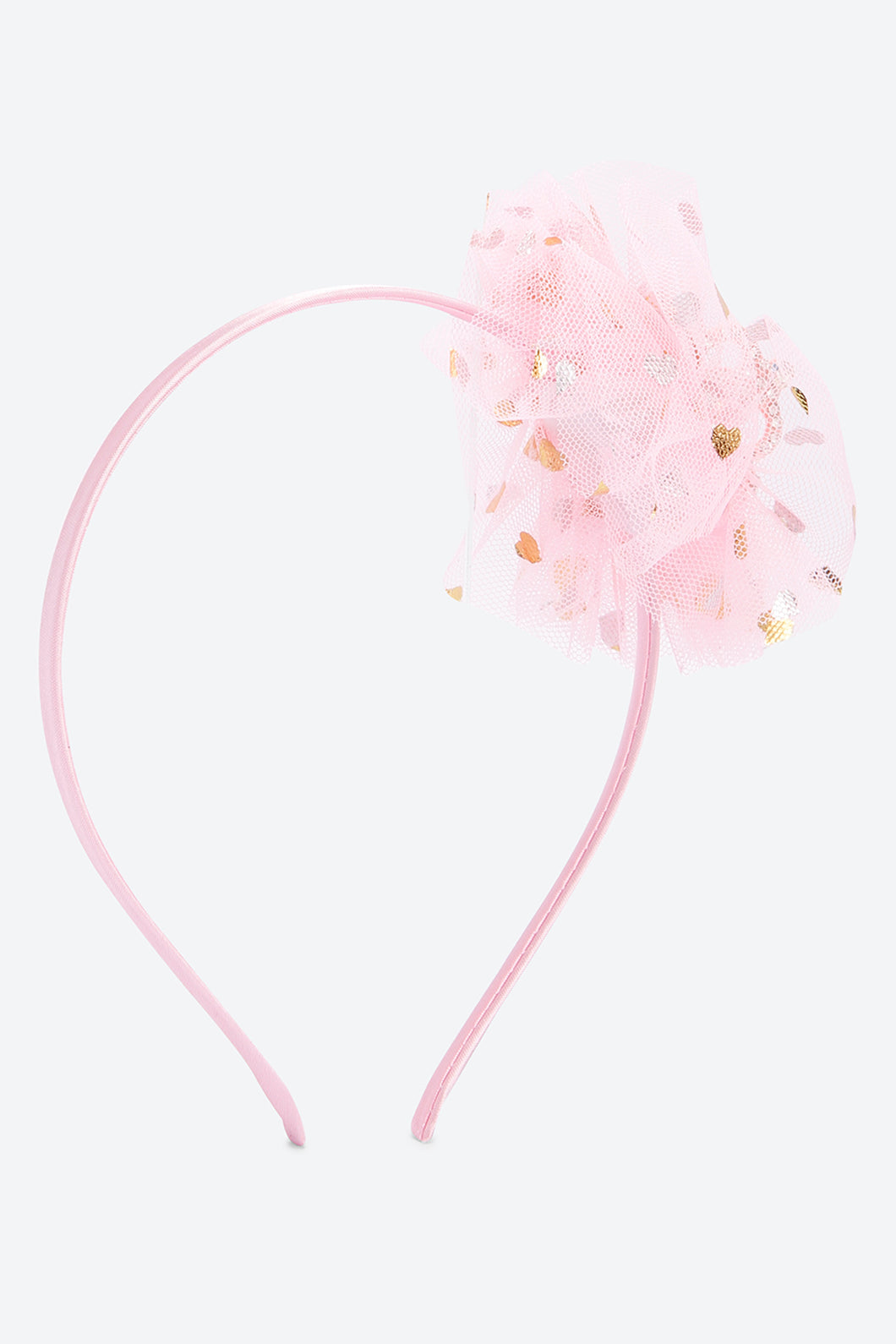 Pink Gold Foil Heart Print Headband