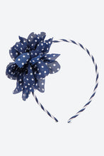 Load image into Gallery viewer, Navy Blue Big Bow Polka Dot Headband
