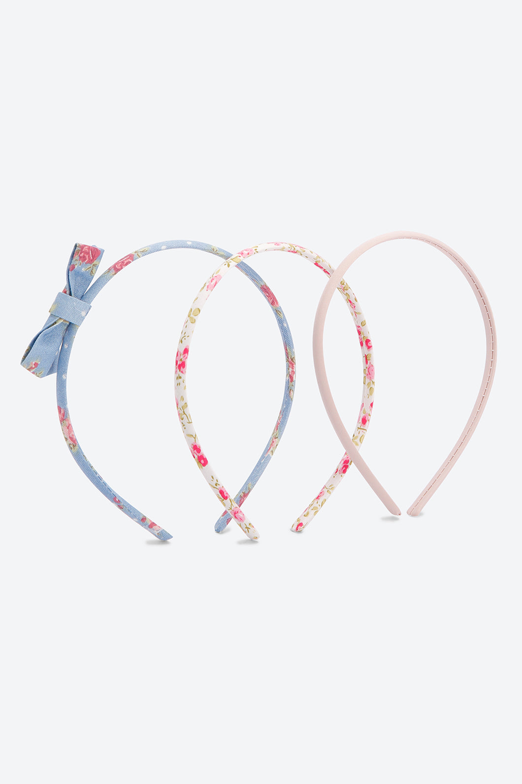 Multi Colour Pack Of 3 Floral Print And Bow Headband