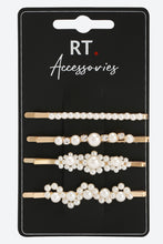 Load image into Gallery viewer, Pearl Pack Of 4 Bobby Pins