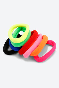 Multi Colour Pack Of 8 Hair Bobbles Elastics