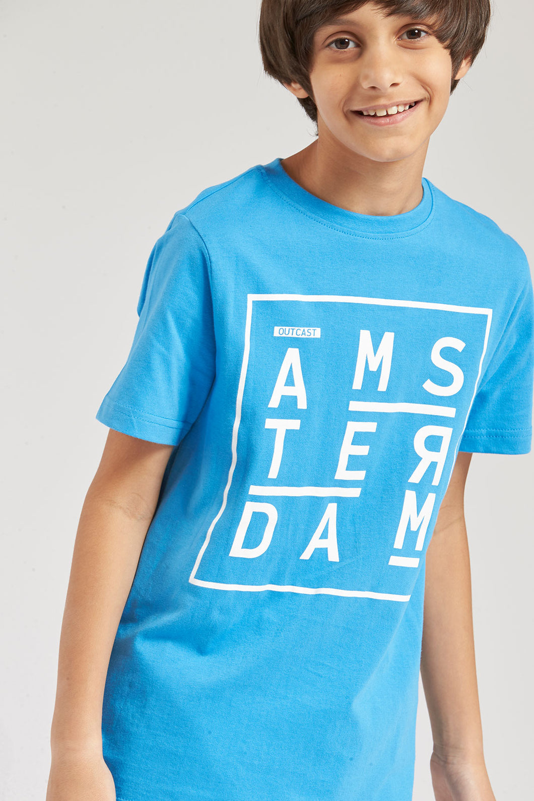 Blue Amsterdam Graphic Print T-Shirt