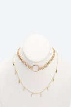 Load image into Gallery viewer, Gold Colour Assorted Necklaces (2 Pieces)