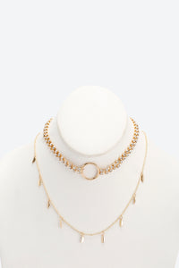 Gold Colour Assorted Necklaces (2 Pieces)