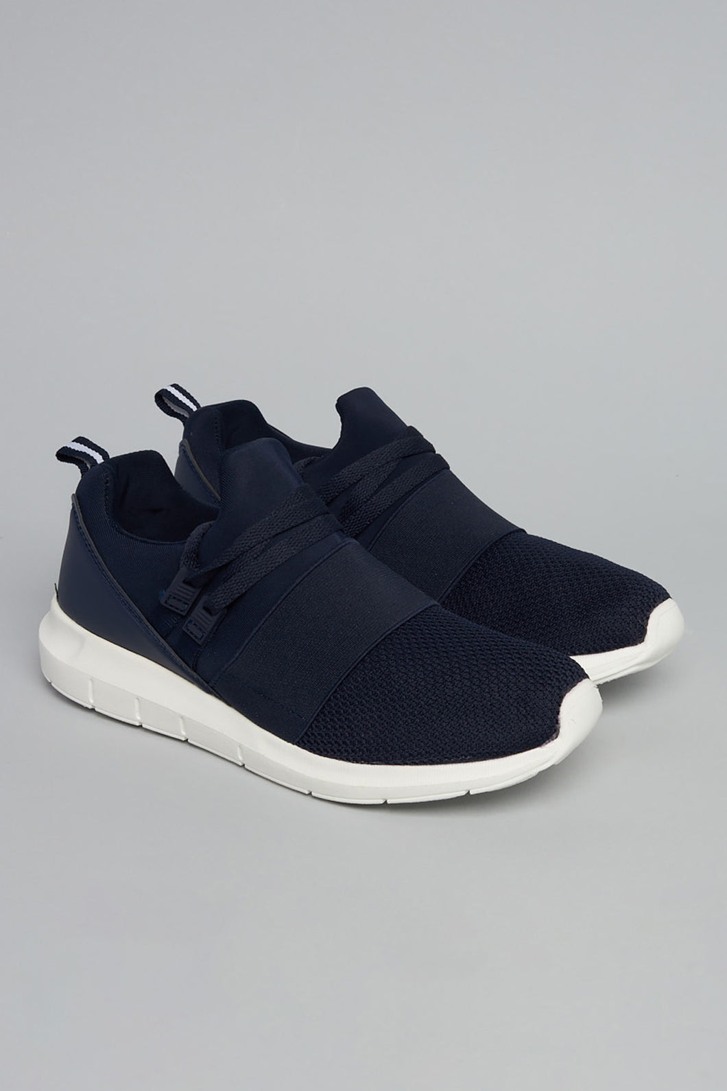 Navy Mesh Slip On Trainer