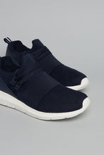 Load image into Gallery viewer, Navy Mesh Slip On Trainer