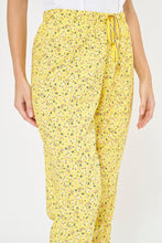 Load image into Gallery viewer, Yellow Allover Floral Print Pyjama Bottom