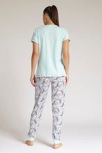 Load image into Gallery viewer, Pale Blue T-Shirt and Pyjama Bottom Set