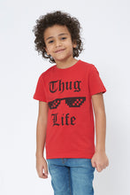 Load image into Gallery viewer, Red Thug Life Graphic Print T-Shirt