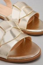 Load image into Gallery viewer, Gold Strappy Sandal