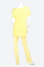 Load image into Gallery viewer, Yellow T-Shirt And Pyjama Bottom Set