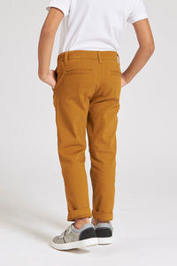 Brown Slim Fit Chino Trouser