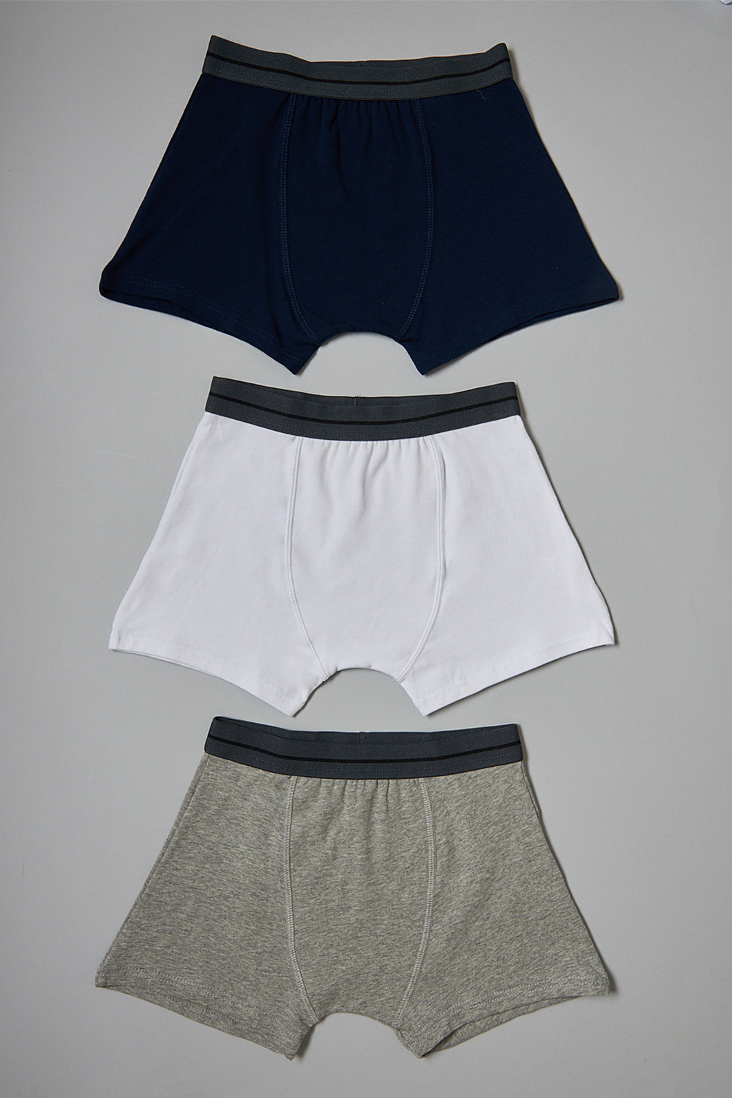 Assorted Plain Boxers (3-Pack)