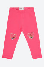 Load image into Gallery viewer, Pink Legging With 3D Glitter Pouch