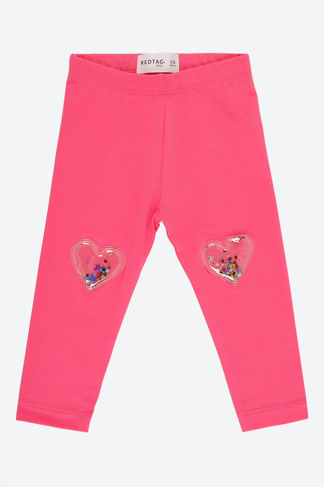 Pink Legging With 3D Glitter Pouch