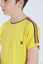 Load image into Gallery viewer, Yellow Pique With Tape T-Shirt