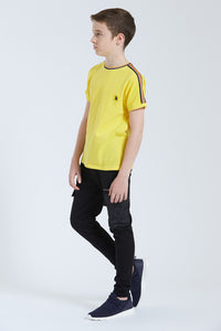 Yellow Pique With Tape T-Shirt