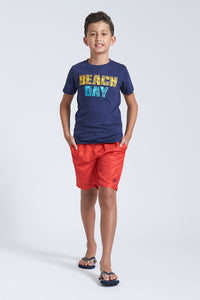 Navy Beach Day T-Shirt